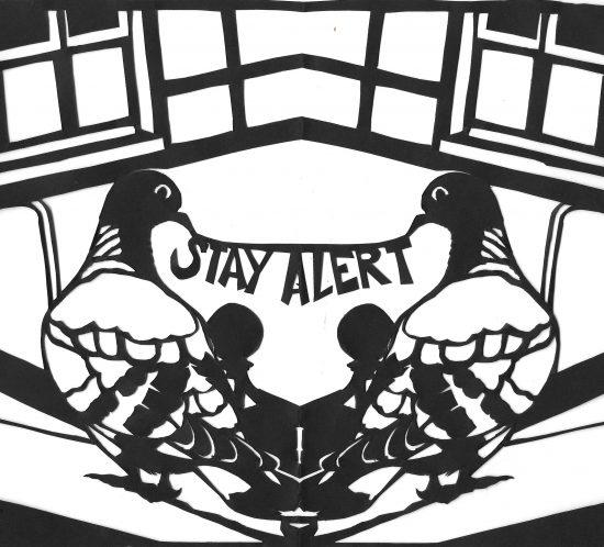 Papercut Pigeons